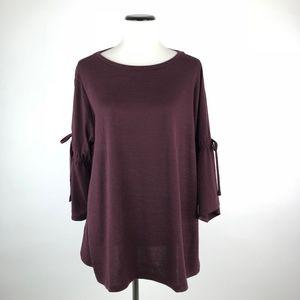 LOFT Swing Sweater Open Sleeves XL #646